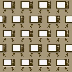 Retro Television Gray Background