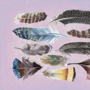 Boho Feathers - Tea towel design