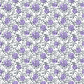 Abstract magnolia pattern