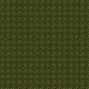 Polka Dots Crayon Green On Café Noir 1:6