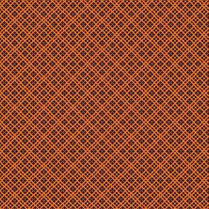 Fair Isle Geometric-Pumpkin Orange and Black