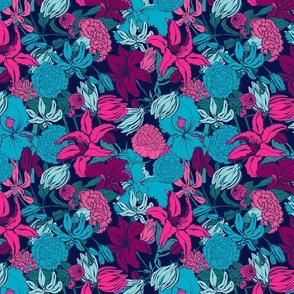 Brignt lilium flowers