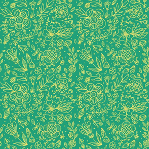 floral doodle pattern