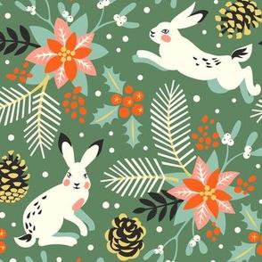 Christmas rabbits