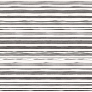 Watercolor stripes in black and gray tones on white