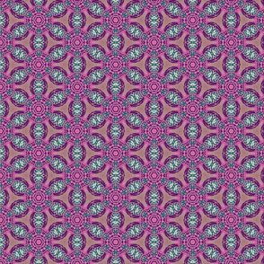 african flower motif purple