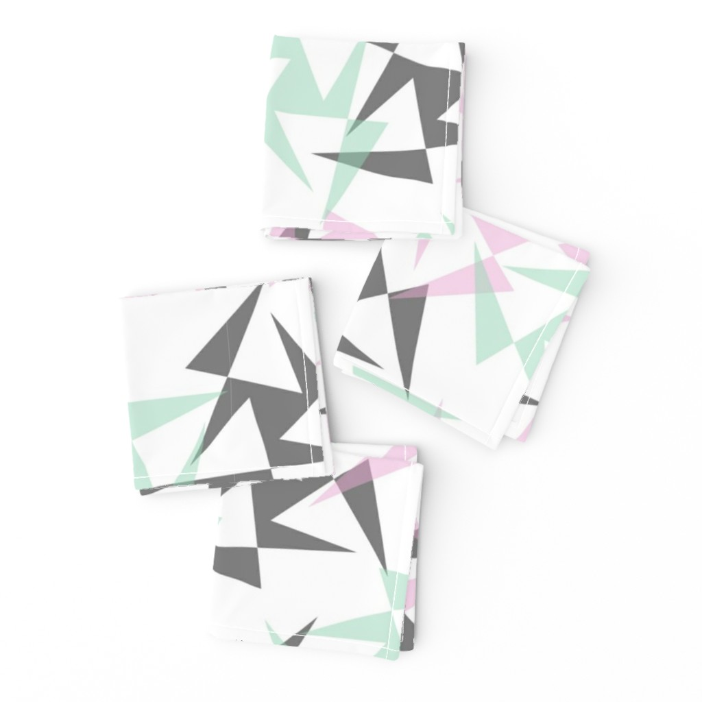 Frizzle Cocktail Napkins featuring Geo Wheels - White by merry_makewell_designs