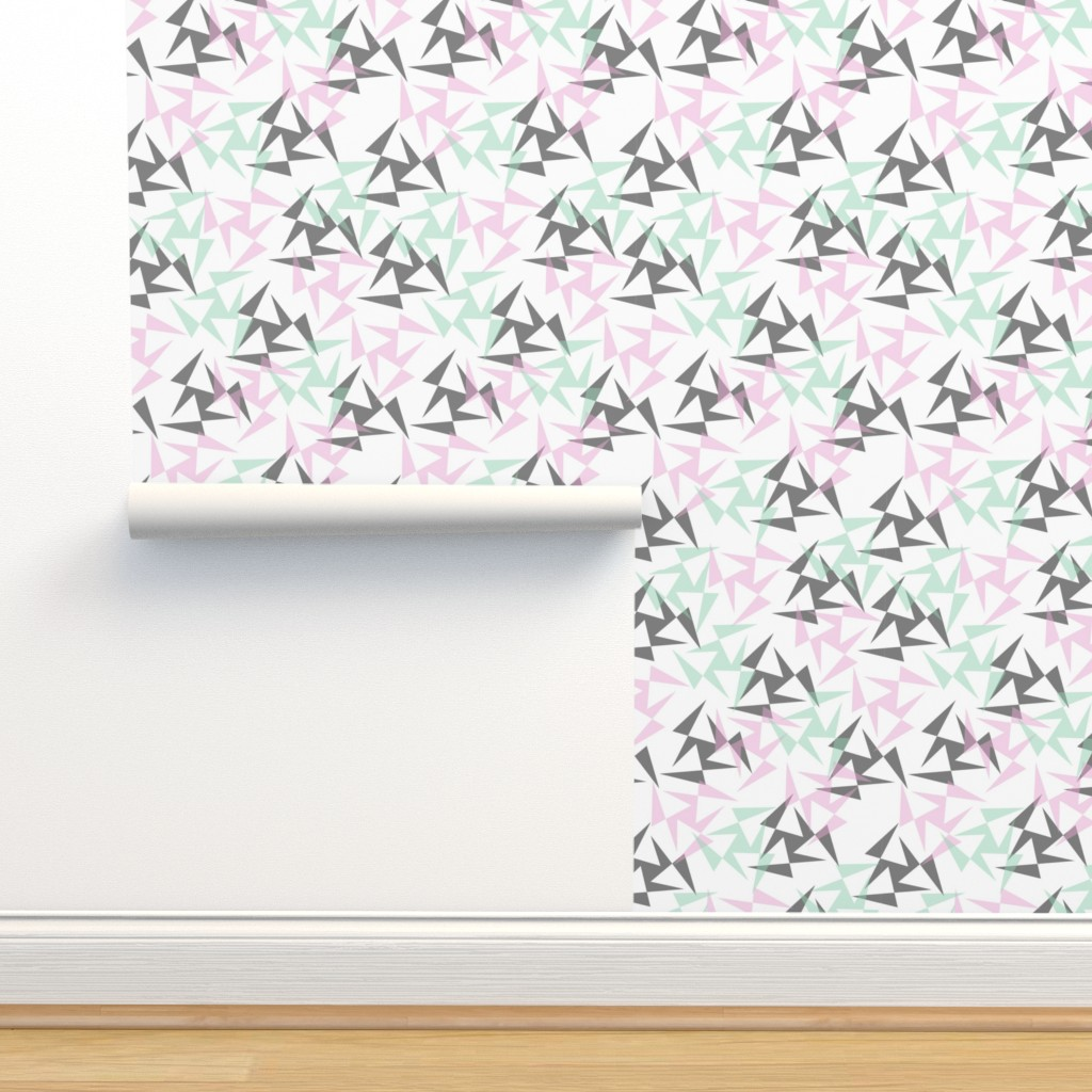Isobar Durable Wallpaper featuring Geo Wheels - White by merry_makewell_designs
