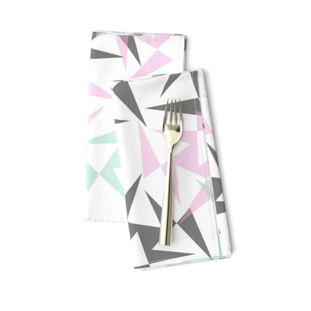 Amarela Dinner Napkins featuring Geo Wheels - White by merry_makewell_designs