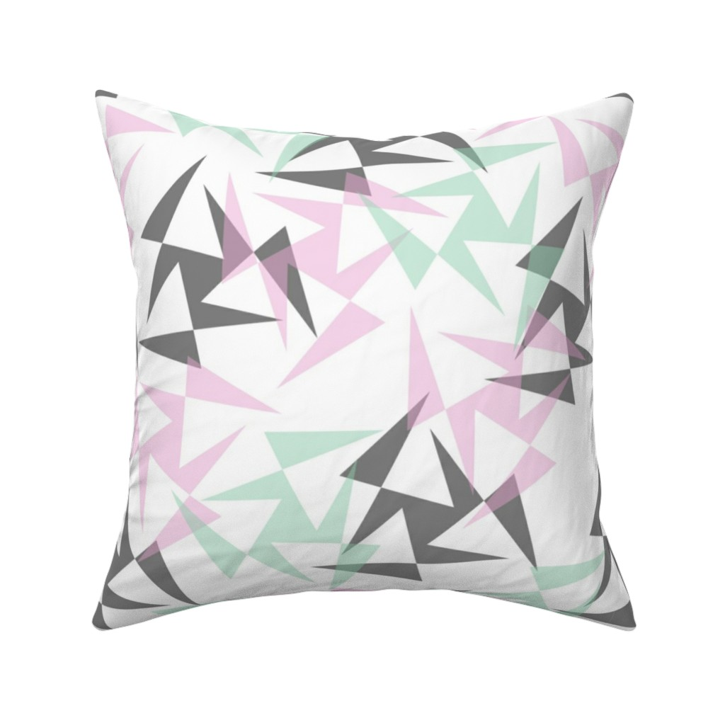 Catalan Throw Pillow featuring Geo Wheels - White by merry_makewell_designs