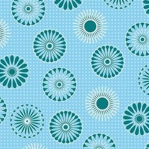 mandala motifs blue