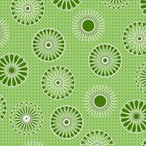 mandala motifs green