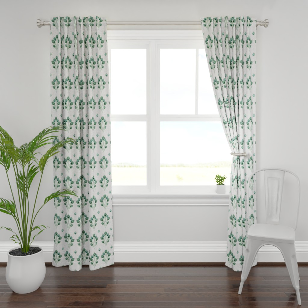 Plymouth Curtain Panel featuring Peacock.archbel by damiana_