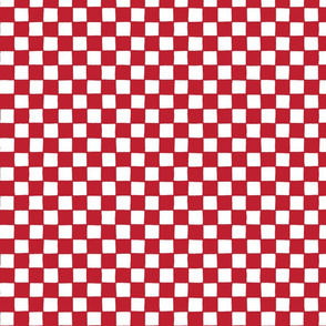 Croatian national checks - little red and white squares LARGE scale