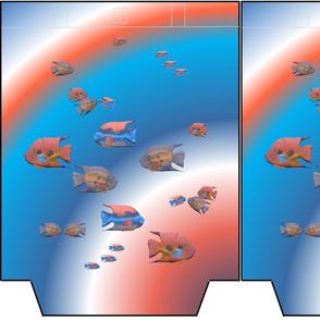 FISH IN THE SEA Tote 13 x 16