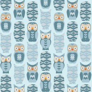 Owls and Hears in Blue