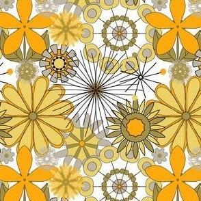 yellows and grey