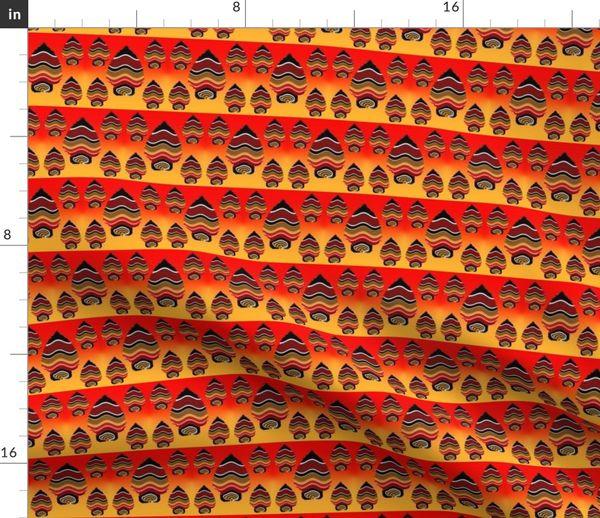 3105e053 Fabric by the Yard KC Chiefs Team Colors Kansas City