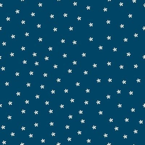 Teeny Tiny Flower Stars (indigo)