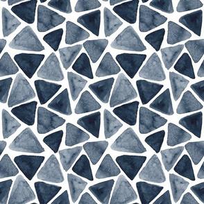 Hand painted dark polygonal stones