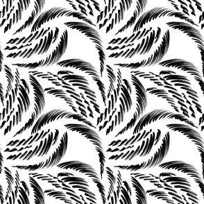 In the Wind - Abstract Black and White