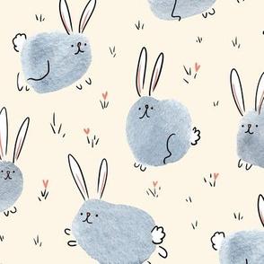 cheerful bunnies