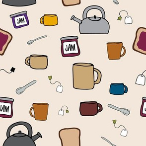 Tea, a Drink with Bread and Jam 1.0 on Cream