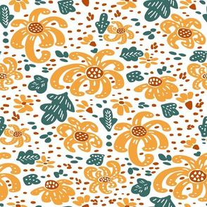 Cutout Fall Saffron Mums V1