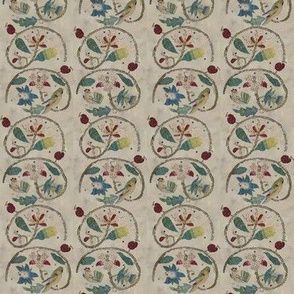 Queen of Scots Embroidered Stripe