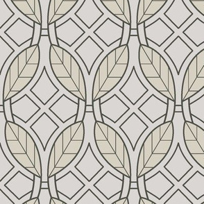 Yellow leaves art deco