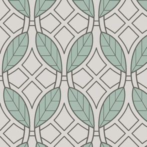 Mint leaves art deco