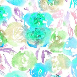 Flowers in   || watercolor floral pattern