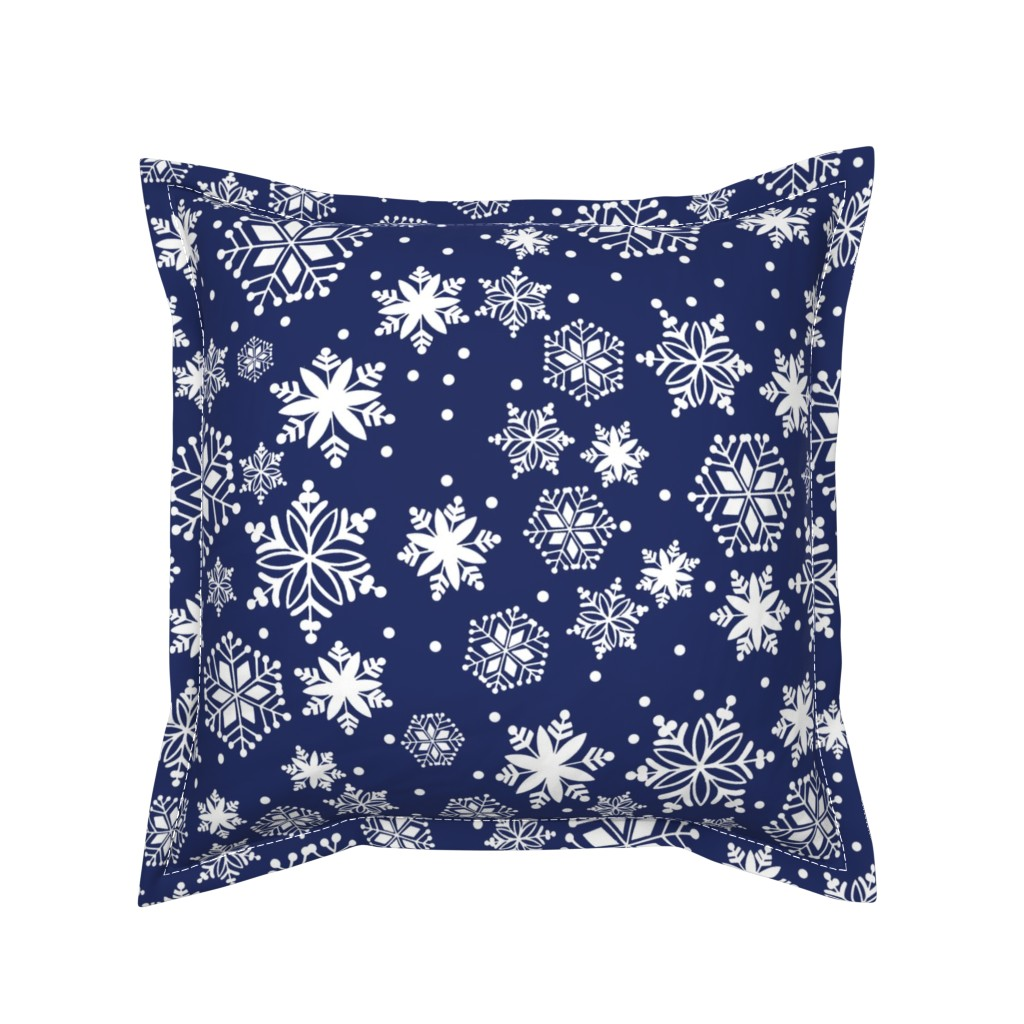 Serama Throw Pillow featuring First Snowfall ink by lilyoake