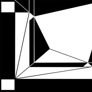 Geometric in black and white