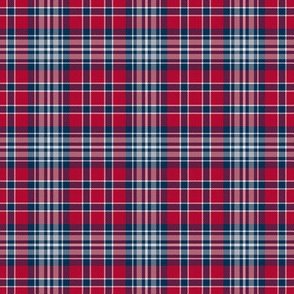 Blue Silver and Red Plaid