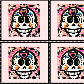 Pink Heart on Skull
