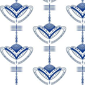 chinoiserie Simplicity Blue White sewindigo