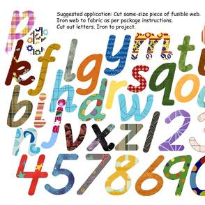 Alpha-Numeric Appliques