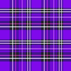 purple tartan plaid 8x8