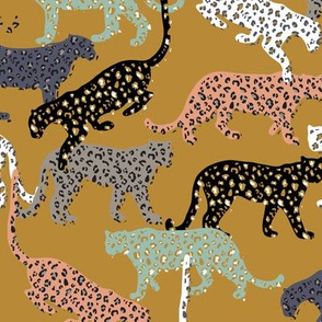 africa africa - leopards - gold - mini