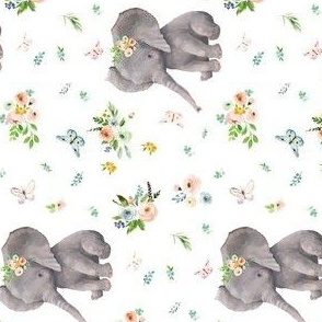 """4"""" Spring Time Baby Elephant 90 degrees"""