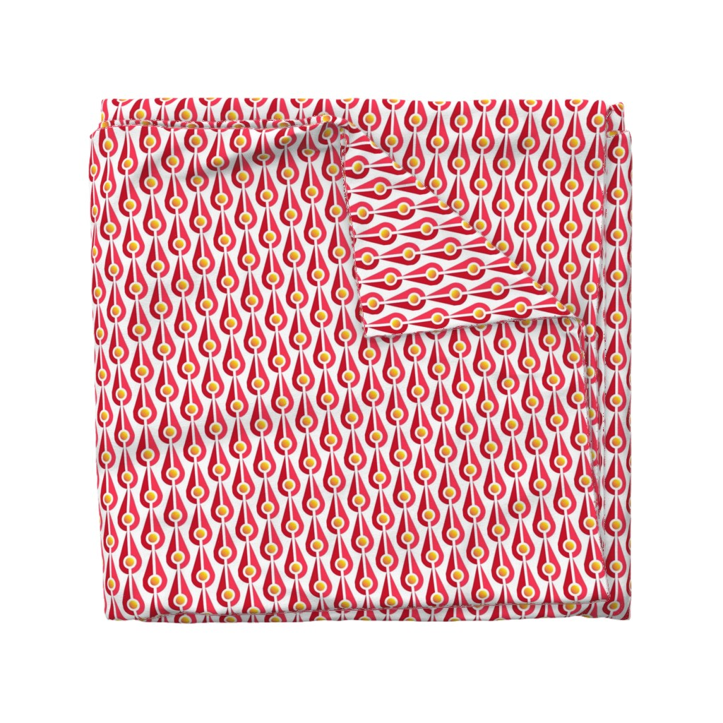 Wyandotte Duvet Cover featuring bombazeen red by beth_vardo