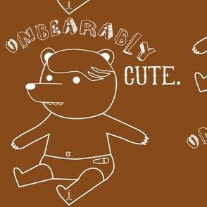 Unbearably Cute-Brown