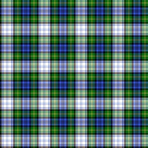 "Gordon dress tartan, 2"" modern colors"