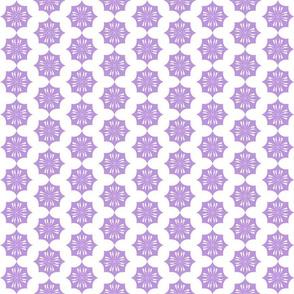 String of purple flowers