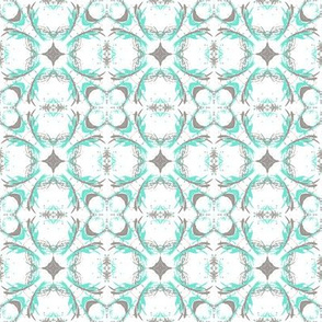 Turquoise and Grey 3D Feathers