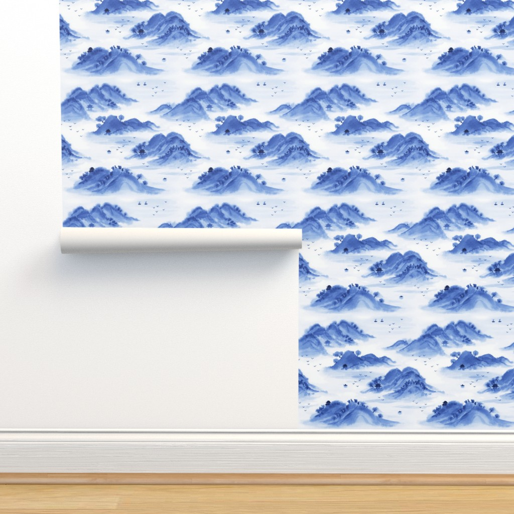 Isobar Durable Wallpaper featuring Morning in the mountains by nadyabasos