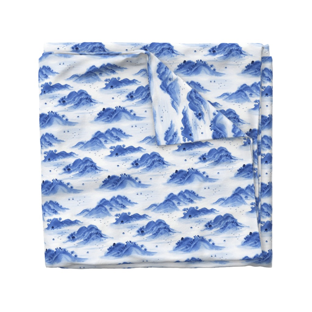 Wyandotte Duvet Cover featuring Morning in the mountains by nadyabasos