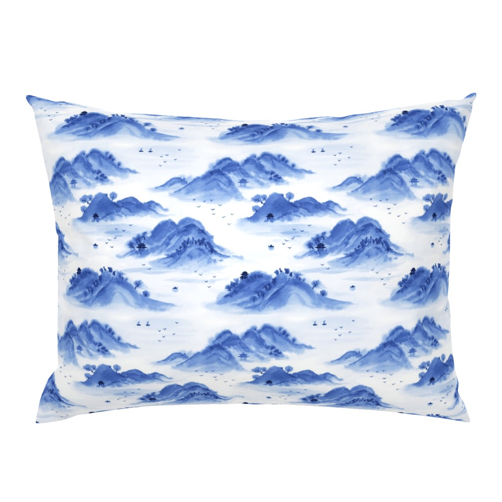 Campine Pillow Sham featuring Morning in the mountains by nadyabasos