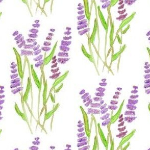 Lavender Watercolor Garden